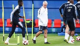 法国四强比赛在即 大将登贝莱训练被训
