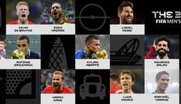 2018足球先生候选名单 内马尔榜上无名