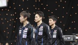 日本男子乒乓球队11人进入正赛