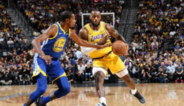 NBA季前赛继续进行 勇士113-123输给湖人