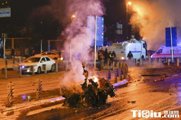 贝西克塔斯主场外遭遇炸弹袭击 爆炸已造成13人丧生