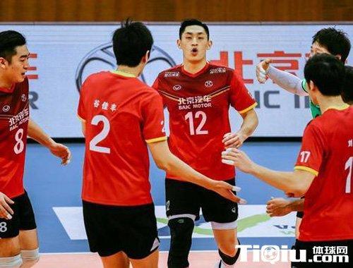 北汽男排豪取13连胜 北京队半主力依然3-0横扫