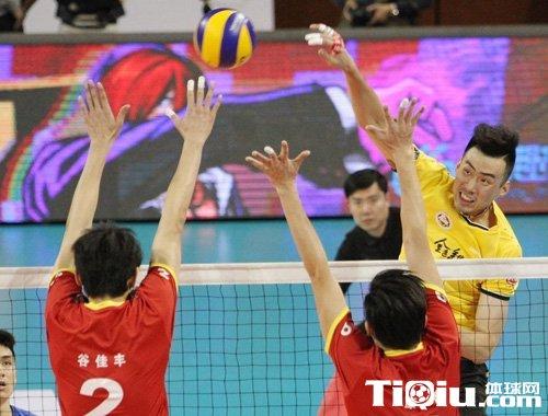 男排联赛京沪大战 上海男排3-1北京