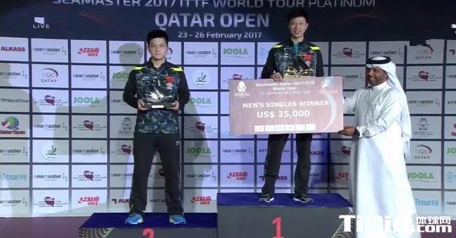 卡塔尔公开赛马龙卫冕 日本男双夺冠