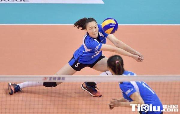 女排联赛惠若琪贡献14分 身体不适仍打满五局