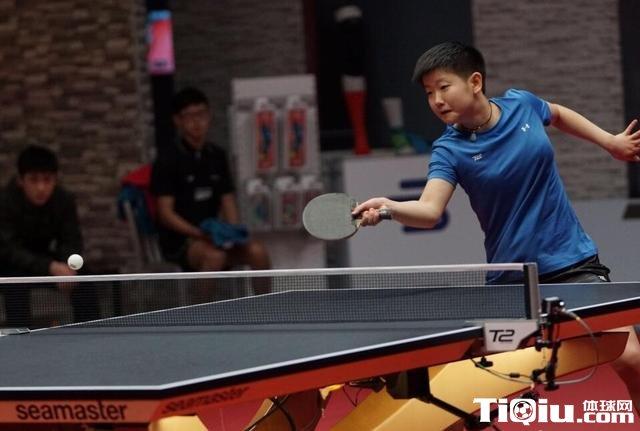 2017T2亚太乒乓球联赛 孙颖莎4 1胜波塔助江嘉良队获胜